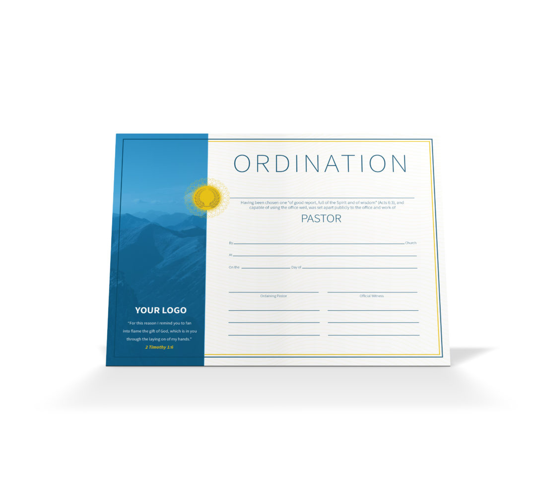image regarding Printable Ordination Certificate identified as Pastor Ordination Certification - Winery Electronic Subscription