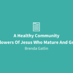 A Healthy Community | Followers Of Jesus Who Mature & Grow