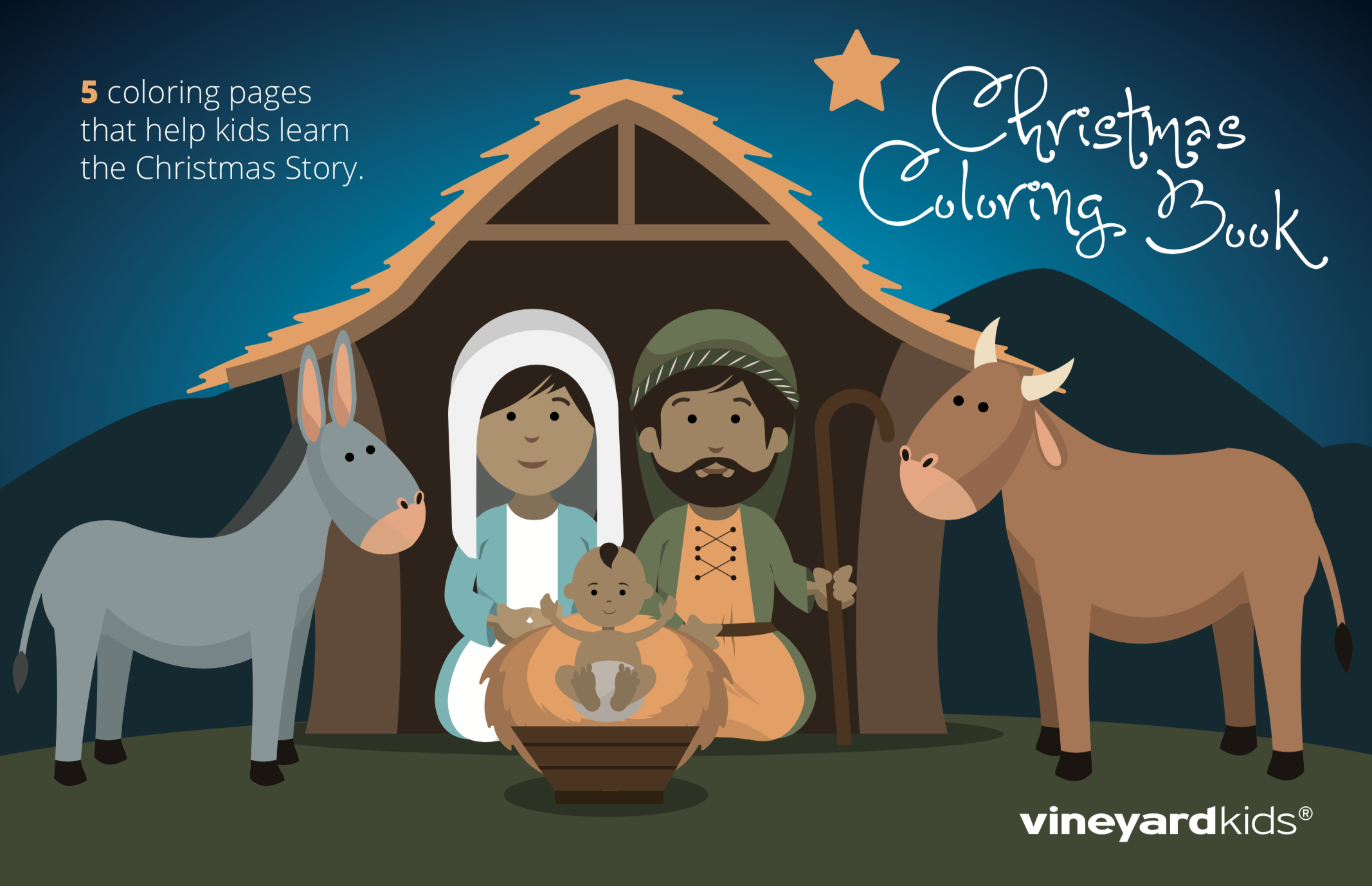 - New Kids Christmas Coloring Pages – Just Released! - Vineyard